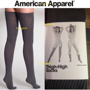 c5e496af101d8 American Apparel Accessories - American Apparel Thigh High Socks White Blue  Red